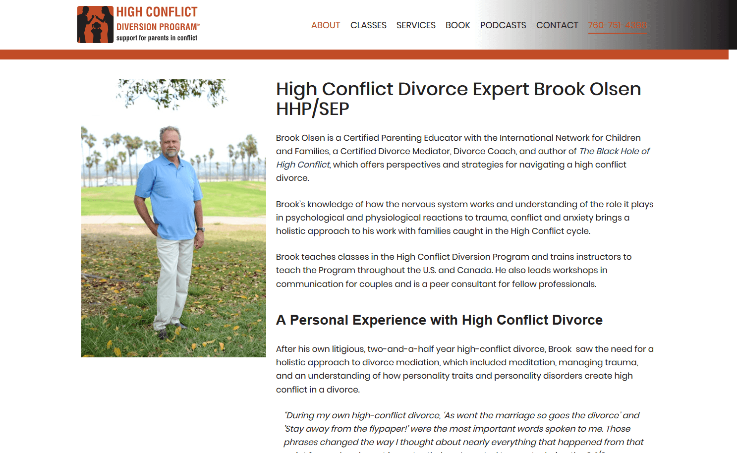 High Conflict Diversion Program About Brook