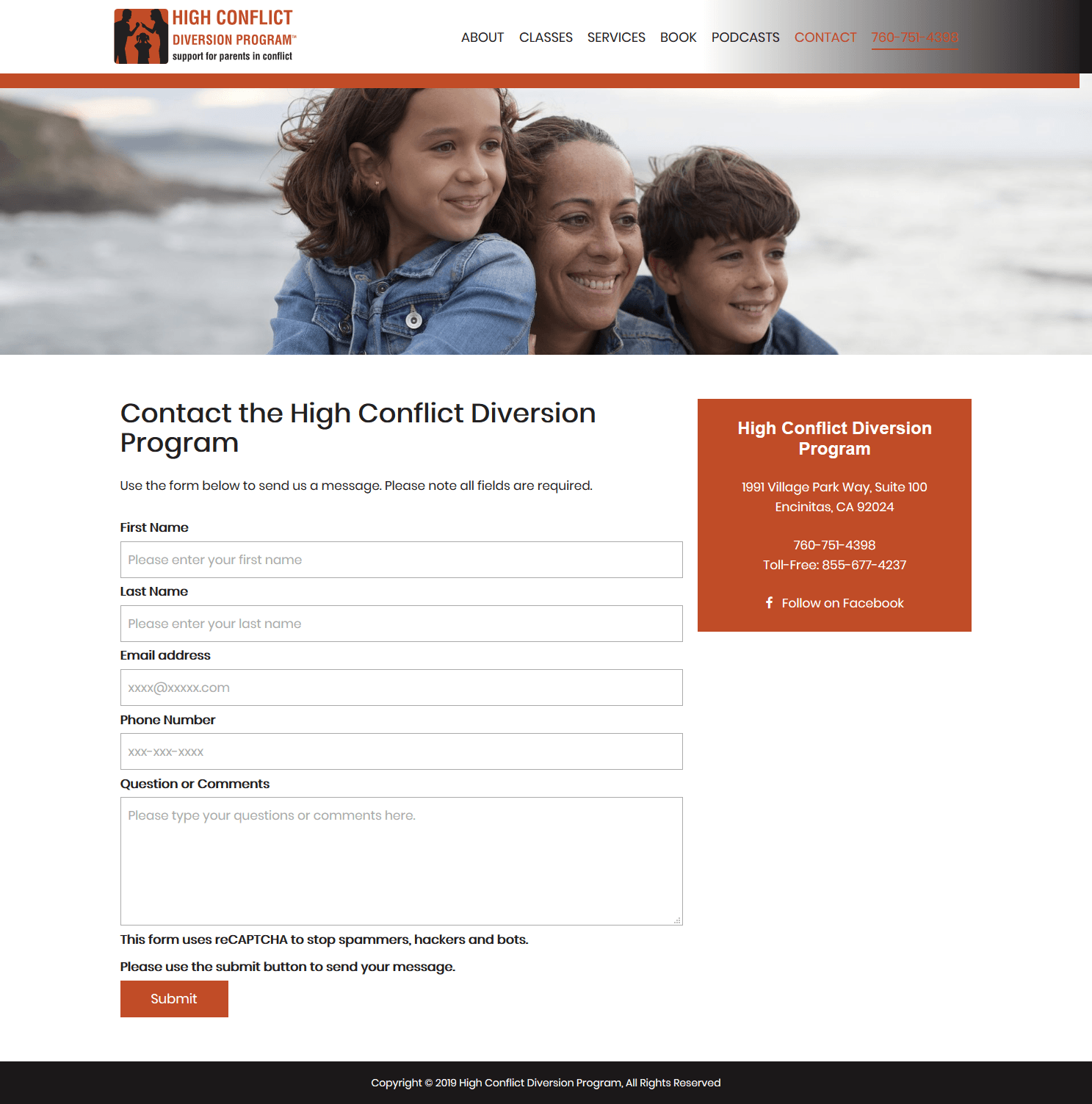 High Conflict Diversion Program Contact