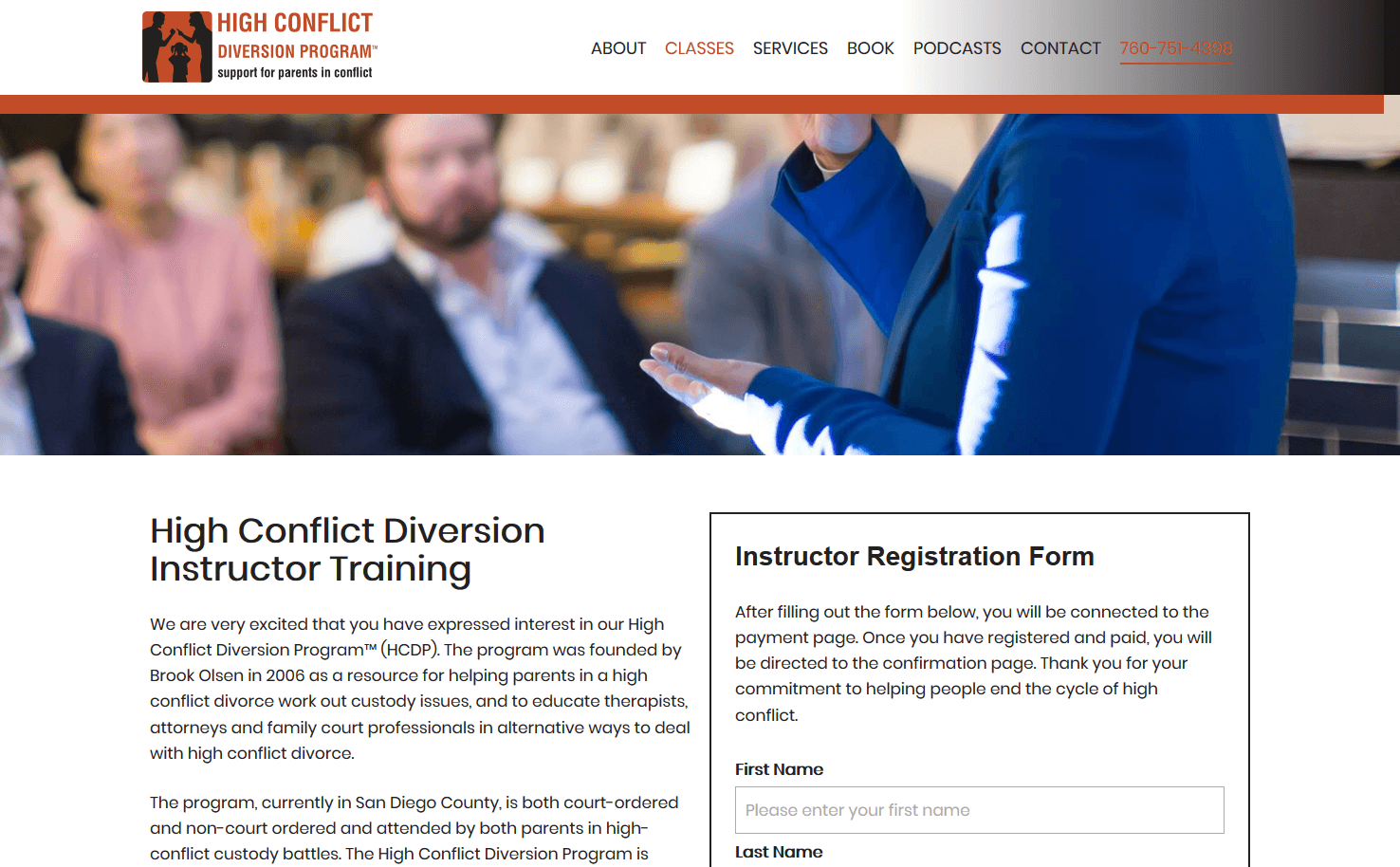 High Conflict Diversion Program Instructor Training