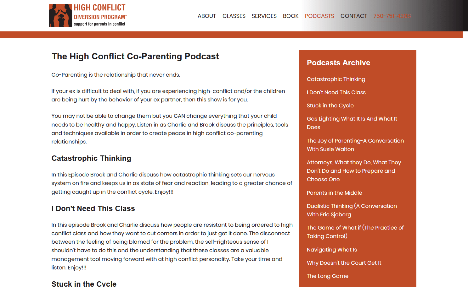 High Conflict Diversion Program Podcast